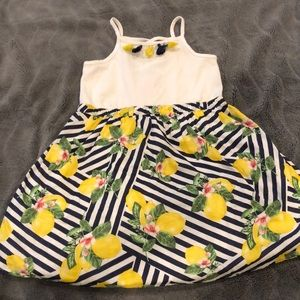 Little girls tassel/lemon dress!